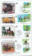 Lot De 4  Premiers Jours Les Jeux Equestres Mondiaux ( Cheval ), 2014 - FDC
