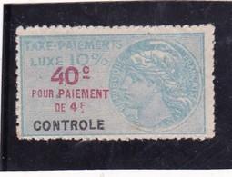 T.F.Taxe De Luxe N° 5B Neuf - Revenue Stamps