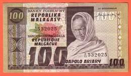 MADAGASCAR - 100 Francs / 20 Ariary  De 1974 - Pick 63 - Madagascar