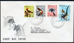 PAPUA NEW GUINEA, 1965 1d,3d,5d,2/- BIRDS FDC - Papouasie-Nouvelle-Guinée