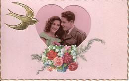 Fantaisie - Ancienne - Couple - Amour -  Carte Luxe - - Couples