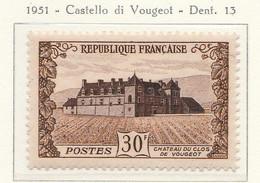 PIA - FRA - 1951 : Castello Di Vougeot  - (Yv  913) - Francia