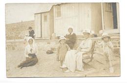 22/ COTES D'AMOR...Carte Postale Photo Femmes, Enfants Sur La Plage De TREGASTEL..2 Scans - Trégastel