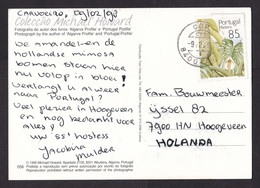 Portugal: PPC Picture Postcard To Netherlands, 1998, 1 Stamp, Flower From Madeira, Plant (traces Of Use) - 1910-... République