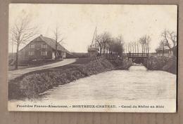 CPA 90 - MONTREUX CHATEAU - Frontière Franco-Alsacienne - Canal Du Rhône Au Rhin - TB Cours D'eau  Habitation à Gauche - France