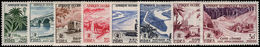 French West Africa 1955 FIDES Set Lightly Mounted Mint. - Unused Stamps