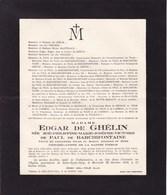 ANNEVOIE SOLRE-SAINT-GERY Zoé De PAUL De BARCHIFONTAINE épouse Edgar De GHELIN  1872-1945 - Obituary Notices