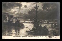 AUTOGRAPHE - GEORGES MARONIEZ (1865-1933) - PEINTRE DE L'ECOLE DE WISSANT - SUR CARTE D'UN TABLEAU DU PEINTRE - Autographes