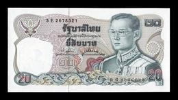 Tailandia Thailand 20 Baht 1981 Pick 88 Sign 74 SC UNC - Thailand