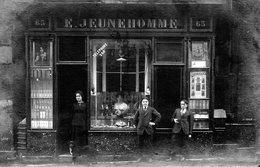 """CARTE -PHOTO Boutique """"  E. JEUNEHOMME """" - Postales"""