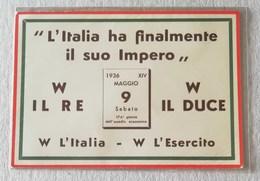 """Cartolina """"L'Italia Ha Finalmente Il Suo Impero"""" 09/05/1936 - Non Viaggiata - Marcofilía"""