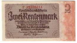 GERMANY2RENTENMARK30/01/1937P138UNC.CV. - [ 3] 1918-1933 : Weimar Republic