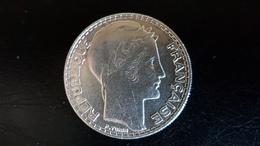 PIECE DE 20F ARGENT TURIN 1933 RAMEAUX LONGS - L. 20 Franchi