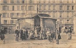 1908 PARIS Fontaine Du Marché Saint-Honoré. Belle Animation. 2 Scans - Arrondissement: 01