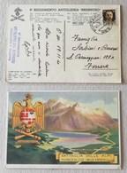 """Cartolina 9° Reggimento Artiglieria """"Brennero"""" P.M. 61 (Italia) Per Ferrara - 13/11/1940 - Correo Militar (PM)"""