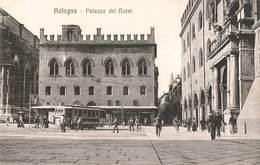 Italie Bologna Bologne Palazzo Dei Notai Palais Des Notaires Tram Tramway Cpa Carte Animée Edit Pini N°29723 - Bologna