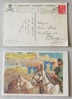 """Cartolina 9° Reggimento Artiglieria """"Brennero"""" P.M. 61 (Grecia) Per Ferrara - 04/04/1942 - Correo Militar (PM)"""