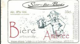 Etiquette Décollée Bière Bière Artisanale Ambrée Brasserie La Botteresse Saint-Georges - Cerveza