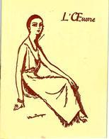 """1947 APRES GUERRE RARE PROGRAMME PARIS THEATRE DE L OEUVRE  Fondateur Lugné Poe """"Homard à L'américaine"""" B.E. - Programme"""
