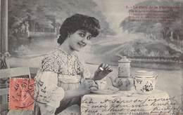 """CPA BERGERET """"Le Café De La Parisienne"""" - Bergeret"""