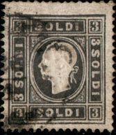 Lombardo-Venetia 1858 3 Soldi Black Type I  Cancelled - Austrian Period - 2003.1202 - Lombardy-Venetia