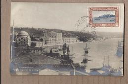 CPA TURQUIE - CONSTANTINOPLE Palais Impérial De Dolma-Bagtché BOSPHORE TB PHOTOGRAPHIE TB TIMBRE Oblitération - Turkey