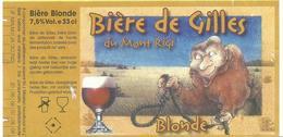 Etiquette Décollée Bière De Gilles Du Mont Rigi Brasserie ? - Beer