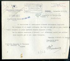 Italia Fascismo Marina Navigazione Documento Palermo Rotterdam - Historische Dokumente
