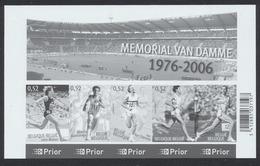 FM - Mémorial Van Damme (1976 - 2006) / Thématique Athlétisme, Sport. - Feuillets Ministériels