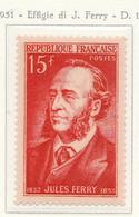 PIA - FRA - 1951 : Effigie Dell' Uomo Politico Jules Ferry- (Yv  880) - Francia