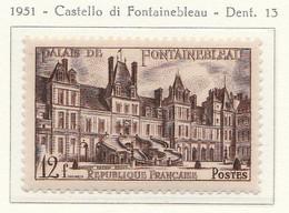 PIA - FRA - 1951 : Castello Di Fontainebleau - (Yv  878) - Francia