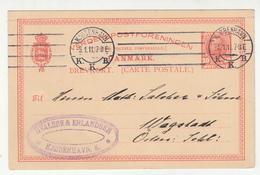 Denmark Postal Stationery Postcard Posted 1911 H.Valsoe & Erlandsen, Kjobenhavn B200310 - Postal Stationery