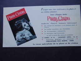 BUVARD - PHOTO-CINEMA MAGAZINE : AVEC UN CHAT - Buvards, Protège-cahiers Illustrés