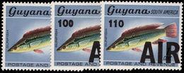 Guyana 1981 (1ST July) Provisional Set Unmounted Mint. - Guyana (1966-...)