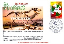 ALGHERIA 2015 Archeology Dinosaurs In Mexico Dinosaures Dinosaurios Dinosauri Fossils Fossiles Fossilien - Omslagen