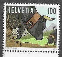SWITZERLAND, 2020, MNH, LIVE STOCK FARMING OF HEREN BREED, BULLS, 1v - Mucche