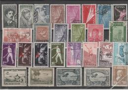 ESPAÑA LOTE DE SELLOS USADOS Y NUEVOS SIN CHARNELA 2 SELLOS NUEVOS PERO SIN GOMA    (K 13) - 1868-70 Gobierno Provisional