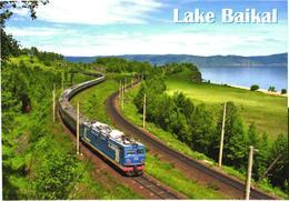 Russia:Lake Baikal, Locomotive And Train - Trains