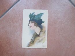 Donnine Woman Illustratore Adolfo BUSI Cappello Ali - Busi, Adolfo