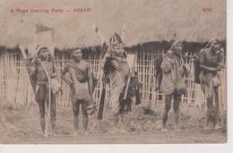 INDIA // INDE. A NAGA DANCING PARTY ASSAM - Inde