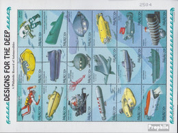 Palau-Inseln 919-936 Zd-Bogen (kompl.Ausg.) Postfrisch 1995 Tauchgeräte - Palau