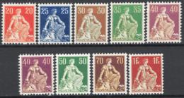 Svizzera 1908 Unif.119/26 **/MNH VF - Unused Stamps