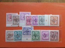 BELGIO 1980/85 - Preobliterati - 13 Valori Differenti Nuovi ** + Spese Postali - Officials