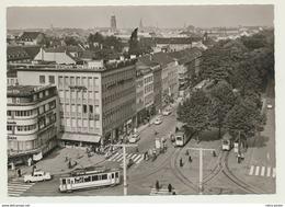 AK   Straßenbahn Tram Krefeld Ostwall Mit VW Käfer Verkehr - Tramways