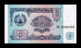 Tajikistan 5 Rubles 1994 Pick 2 SC UNC - Tayikistán