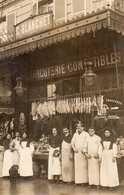 Paris-Carte Photo-Charcuterie -Boucherie-C.Blanchet Très Bon état - Magasins