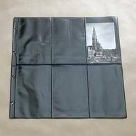 50 Feuilles Fond Noir Pour Cartes Postales - 6 Cases Verticales Recto Et Verso - Matériel
