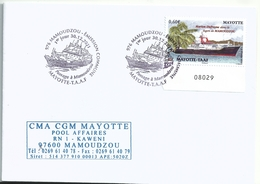 YT 601 - Bateau Marion Dufresne Dans Le Lagon De Mamoudzou - FDC - Mayotte (1892-2011)