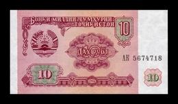 Tajikistan 10 Rubles 1994 Pick 3 SC UNC - Tayikistán