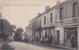 CHATELUS-le- MARCHEIX: Av Du Pont- Très Animée! Cliché Inconnu Sur Delcampe - France